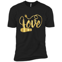 Valentines Day Shirt Love Hair Stylist Hairdresser Gift Gold