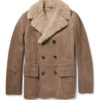 Gucci - Double-Breasted Shearling Coat | MR PORTER