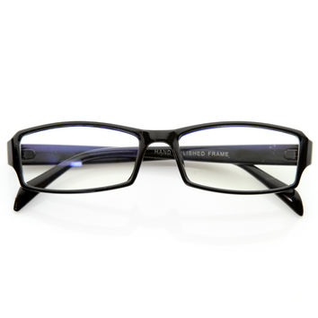 Optical RX Modern Rectangular Basic Frame Clear Lens Glasses 8031