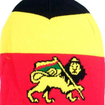 Rasta Beanie Hat with Lion - CASE OF 144