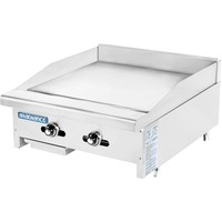 """Radiance Commercial Kitchen Countertop Flat Thermostatic Gas Griddle 24"""""""