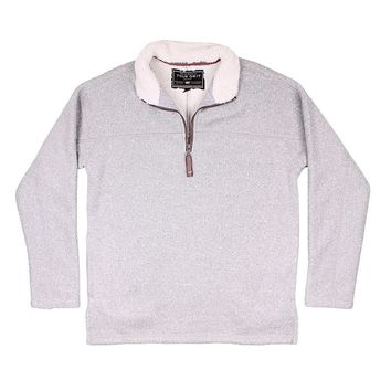 Varsity Fleece 1/4 Zip Pullover in Heather Grey by True Grit