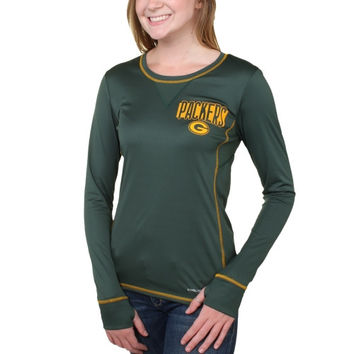 Green Bay Packers Majestic Women's Speed Rules III Synthetic Long Sleeve T-Shirt – Green