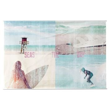 Girl Surf and Beach Wall Mural