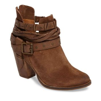 Naughty Monkey Cuthbert Tan Heeled Bootie