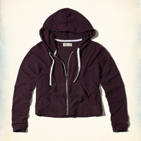 Girls Cropped Boxy Hoodie | Girls Tops | HollisterCo.com