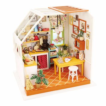 robotime Dollhouse  DIY kit Jason's Kitchen with LED accessories DG105