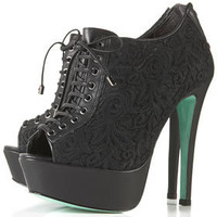**MAGDA Lace Up Booties by CJG - CJG - Designers - Topshop USA