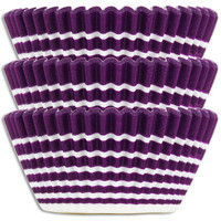 Purple Ring Stripe Baking Cups
