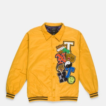 ANYTHING GOES BASEBALL JACKET - YELLOW | 10.Deep® Clothing