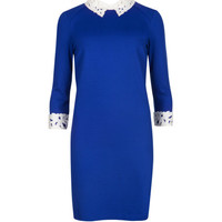 Lace collar tunic - Bright Blue | Dresses | Ted Baker
