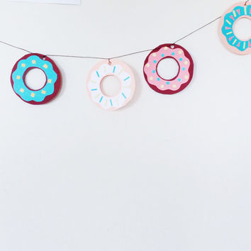 Doughnut party garland / Summer party garland