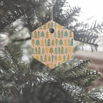 Heather Dutton Oh Christmas Tree Frost Ornament Hexagon