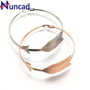 2017 3 Color Punk Adjustable Arrow Bracelets & Bangles For Women Gift Cuff Bracelet pulseira feminina