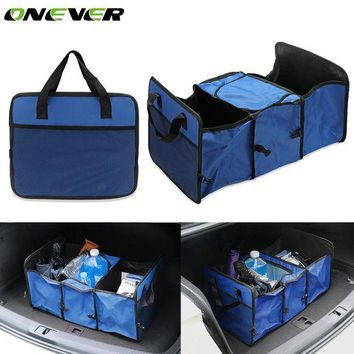 DCCKH0D Onever Multifunctional Auto Car Trunk Storage Folding Bag Oxford Cloth Toys Food Organizer Tidy Container Bags Stowing Tidying