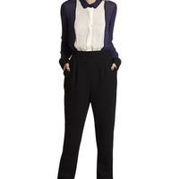 Bib Front Jumpsuit in Black - BCBGeneration