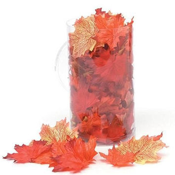 Maple Leaves - Fall Decor - Silk Screen - Orange Mix