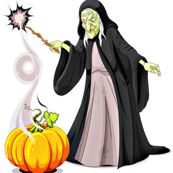 Witch Image, Creepy Witch Image,Scary Witch Image,Large Witch Casting Spell,Transparent Cutout, Wall Décor, Teen Room,Teen Décor, Home Décor