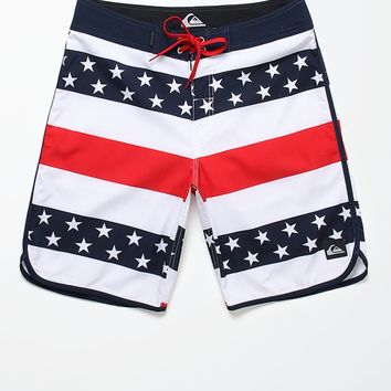 Quiksilver 40 Oz Of July Boardshorts - Mens Board Shorts - White
