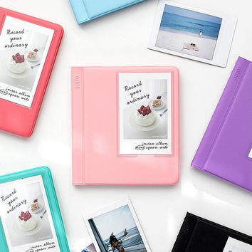 Colorful Instax mini medium slip in pocket photo album