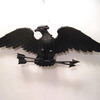 Retro, Black, Cast, Iron, Eagle, Patriotic, Bird, Wall, Decor, Sexton, Metal, Mancave, Americana, Military, Arrows, Art, Animal, Mid Century