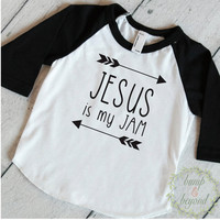 Toddler T-Shirt Trendy Kids Clothes Jesus Is My Jam Shirt Toddler Boy Shirts Hipster Kids Clothes Christian Clothing 172