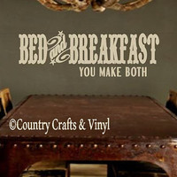 Country Bed & Breakfast Vinyl Wall Decal