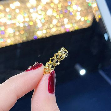 HCXX 015 Pandora Gold-plated small bee series rings
