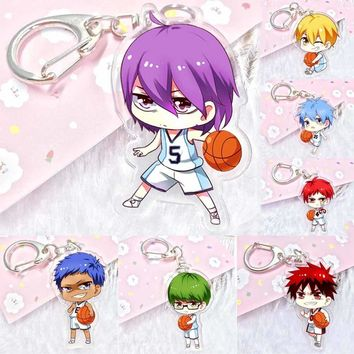Anime Kuroko's Basketball Kuroko no Basket acrylic Keychain Pendant Car Key Accessories Cute Japanese Cartoon