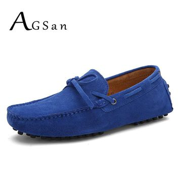 AGSan Luxury Brand Boat Shoes Men Genuine Leather Mens Loafers Moccasins Men Leather Casual Shoes Big Size 38-49 11 12 Loafers