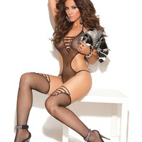 FISHNET TEDDY AND STOCKINGS