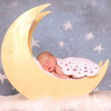 Newborn baby Crochet Photography Blanket Prop Round Mat Handmade Infant Knitted -CCB100