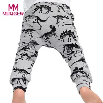 Fashion Casual Toddler Baby Boys Dinosaurs Print Elasticity Long Pants Loose Trousers Kids Boy Casual Long Pants