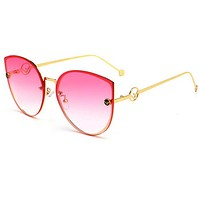 FENDI Newest Popular Women Chic F Letter Sun Shades Eyeglasses Glasses Sunglasses 8# I13798-1