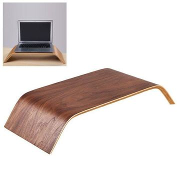 DCCKFS2 For Apple iMac Monitor Stand Universal Monitor Arm Multilayer Solid Wood Arch Shelf Smooth Paint Surface Platform Riser for iMac
