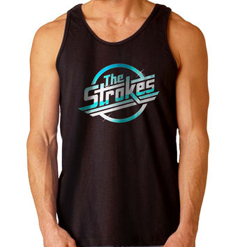 The Strokes logo For Mens Tank Top Fast Shipping For USA special christmas ***