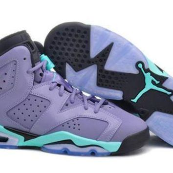 Hot Air Jordan 6 Retro Women Shoes Purple Green