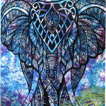 ESBU3C Indian Printed Elephant Mandala Tapestry Throw Hippie Tapestry Hanging Decorative Wall Tapestries 210X150Cm Drop Shipping