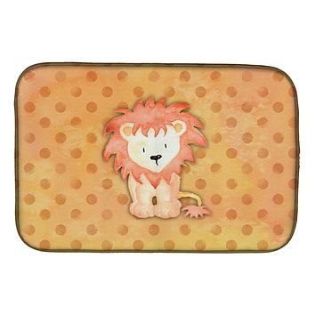 Polkadot Lion Watercolor Dish Drying Mat BB7374DDM