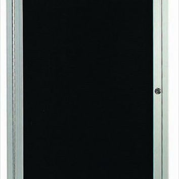 """Enclosed Outdoor 18""""x24"""" One Door Satin Anodized Finish Aluminum Directory Changeable Letter Board"""