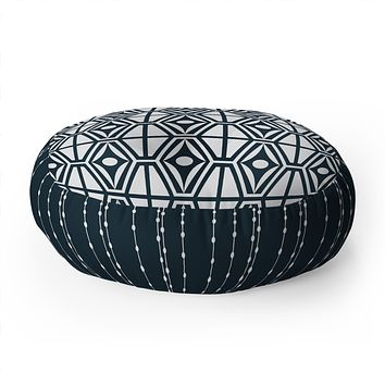 Heather Dutton Metro Steel Floor Pillow Round