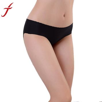 JECKSION Women Panties 2016 Hot Sexy Invisible Underwear Spandex Seamless Crotch #LSN