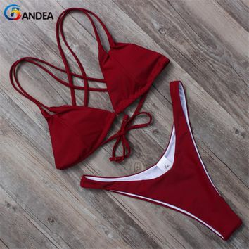 swimwear women bikini bikini padded swimsuit halter top bathing suit