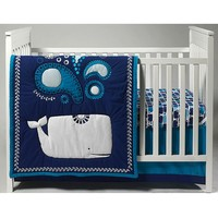 Happy Chic by Jonathan Adler Party Whale 4-pc. Crib Bedding Set (Blue)