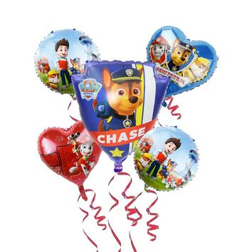 Paw Patrol Foil Balloons group 18inch Hot Cartoon Dog Handheld Globos Birthday Party Decorations Kids Toys Chase Marshall Baloon