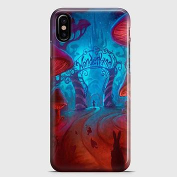 Alice In Wonderland Night iPhone X Case