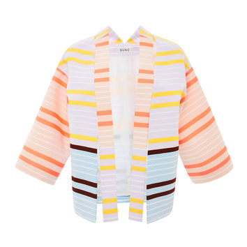 Neon Stripe Shoulder Cutout Jacket