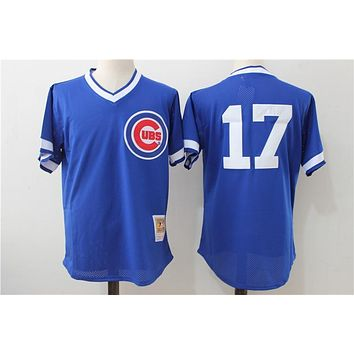 Mitchell & Ness Ryne Sandberg Chicago Cubs Kris Bryant Authentic Collection Throwback Replica Jersey - Royal Blue