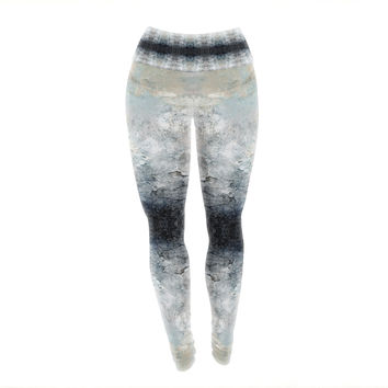 "Pia Schneider ""Heavenly Abstraction l"" Blue Digital Yoga Leggings"