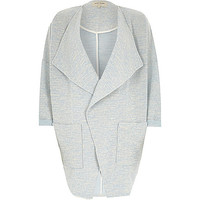 River Island Womens Light blue draped front jersey jacket